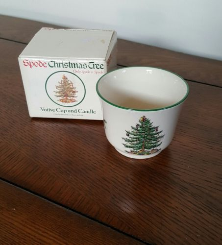 Spode Christmas Tree Votive Cup Candle Holder S3324 England