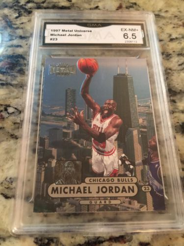 1997-98 Metal Universe Championship Preview 23 Michael Jordan Chicago Bulls Card