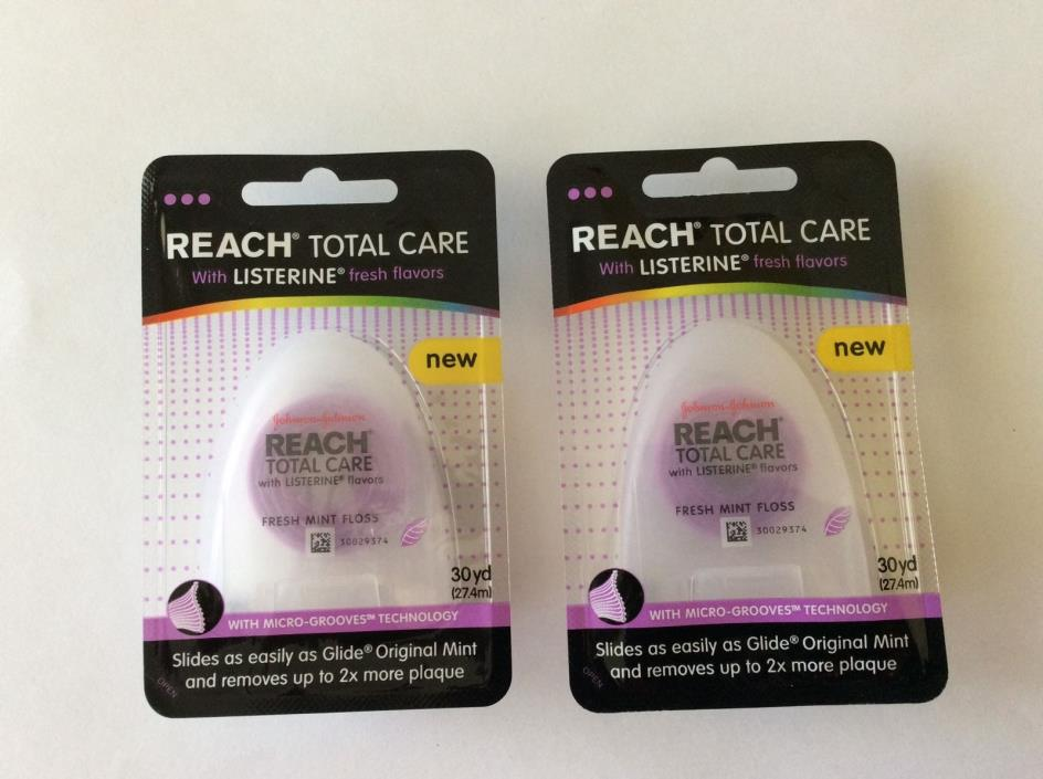 Reach Total Care Floss With Listerine Fresh Flavors 30-Yard Lot of 2