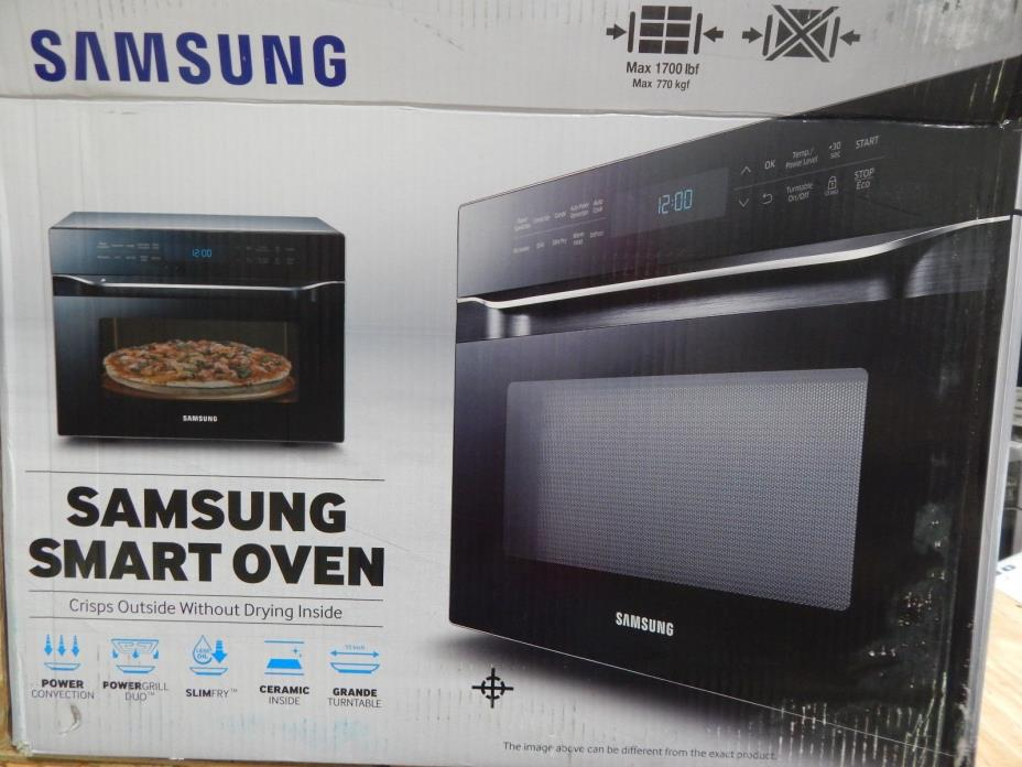 Samsung MC12J8035CT 1.2 Cu. Ft. StainlessBlack Smart Microwave Oven (44674)