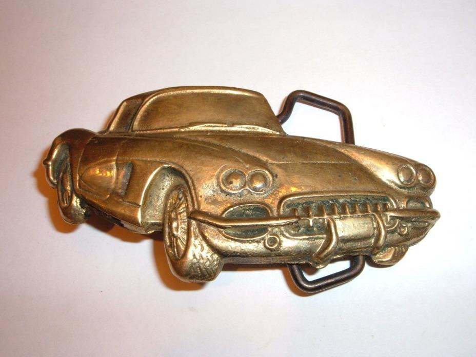 C-1 Corvette Solid Brass Belt Buckle