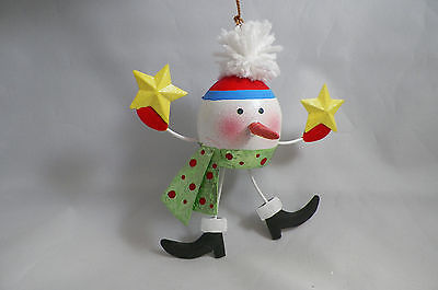 Funky Snowman with Stocking Cap and Scarf Christmas Tree Ornament new holiday