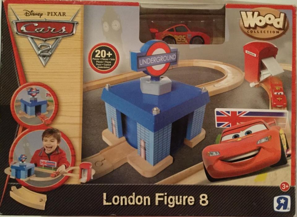 Disney Pixar Cars Wood London Figure 8 Set