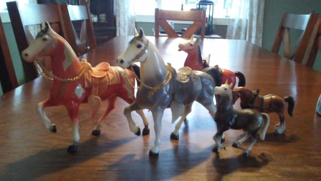 Collectable Antique Horse Toys - Set of 5