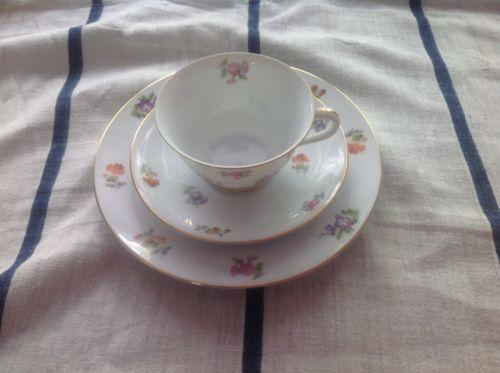 noritake vintage floral teacup saucer and dessert plate
