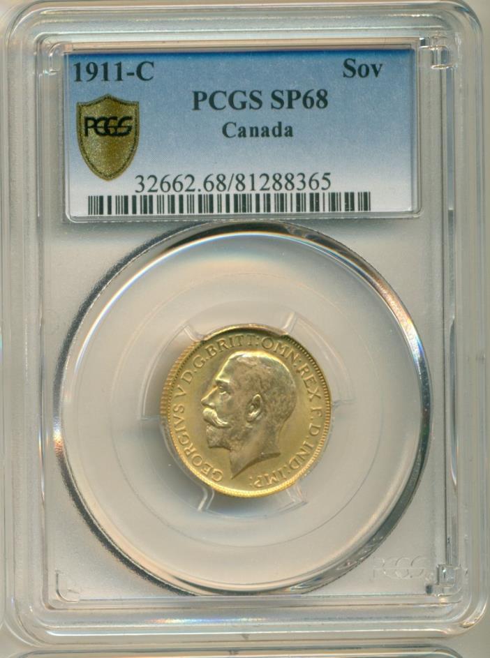 1911-C Sovereign PCGS SP68