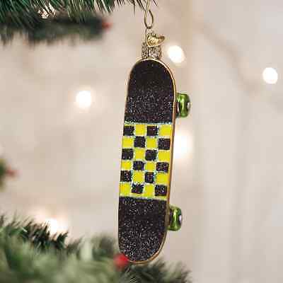 Skateboard Old World Christmas Tree Ornament NWT mouth blown glass