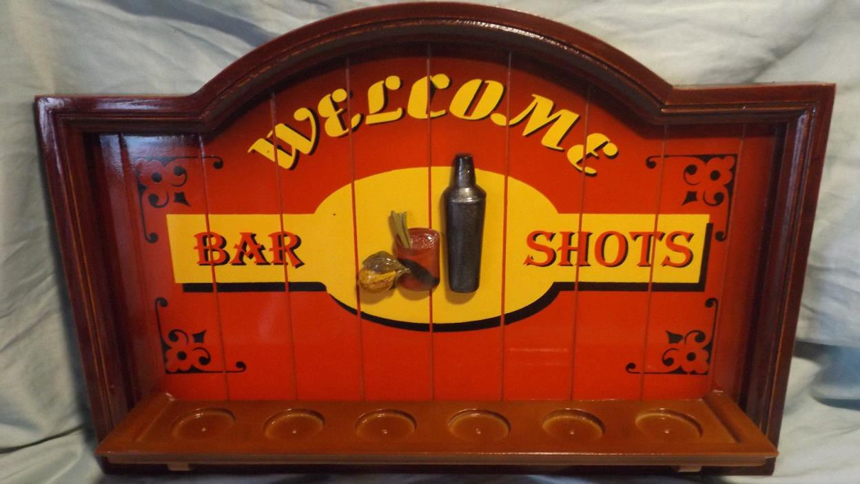 Decorative Pub Sign - Shot Glass Holder