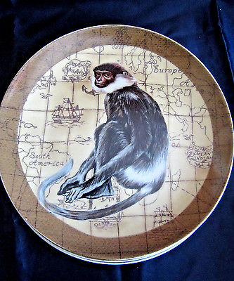 Decorative wall plate monkey safari jungle theme 8.5