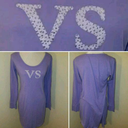 VICTORIA'S SECRET nightgown womens size large L purple vs pajamas pjs