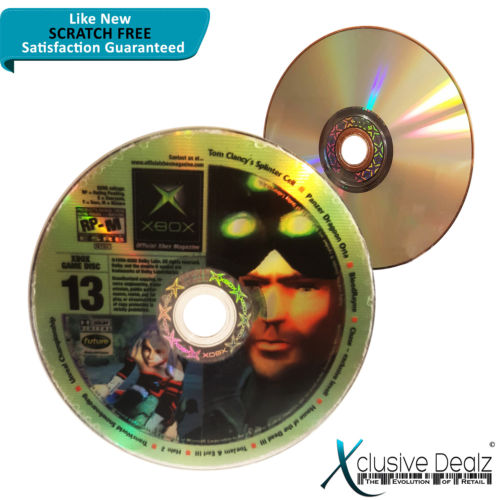 Tom Clancy's Splinter Cell Microsoft Xbox 2002 Video Game DISC 13 ONLY #XD3