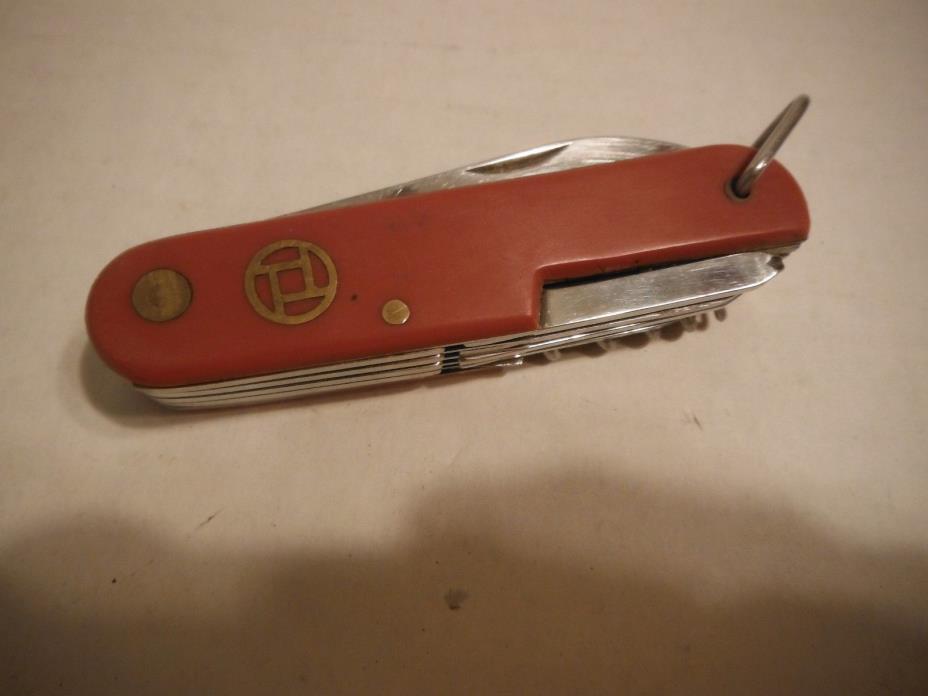 Vintage Stainless Steel Multi Purpose Pocket Knife Tool 3 3/4