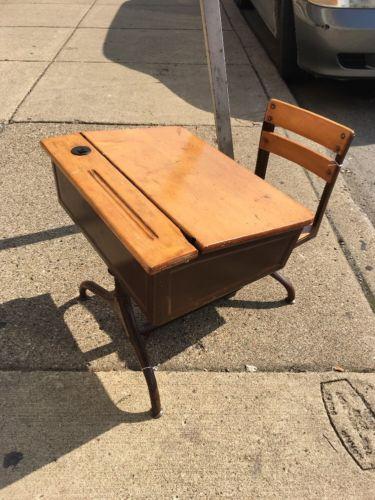 vintage school desk for sale classifieds. Black Bedroom Furniture Sets. Home Design Ideas