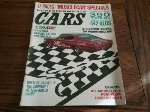 VINTAGE HI-PERFORMANCE CARS MAGAZINE APRIL 1966 DODGE CHARGER HEMI (BOX 24)