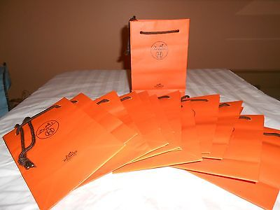 HERMES NEW PAPER SHOPPING BAGS/11.25 x 8.25 x 3 lot of 6