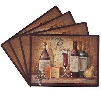 Benson Mills Bordeaux 100-Percent Cork Placemat, Set of 4