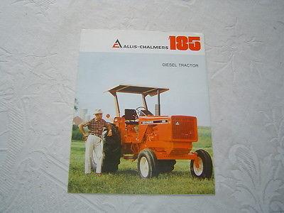 Allis Chalmers 185 tractor brochure