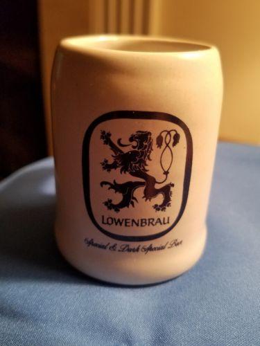 LOWENBRAU DARK SPECIAL BEER Mini Mug Shot Glass - WITH HANDLE