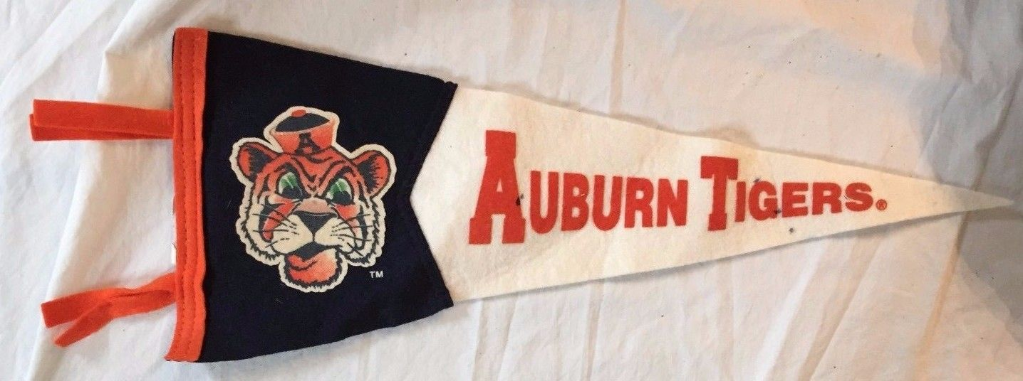RARE ~ Auburn Tigers Pennant ~ VINTAGE ~ FREE SHIPPING
