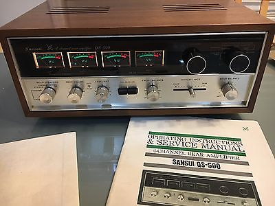 SANSUI QS-500 QUADRAPHONIC SYNTHESIZER REAR CHANNEL AMPLIFIER OWN OWNER