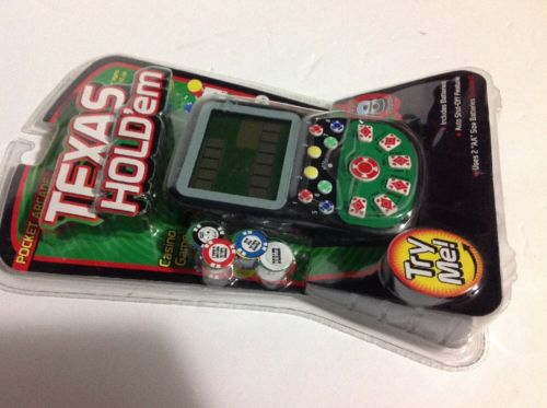 Pocket Arcade Texas Hold'em Electronic Handheld