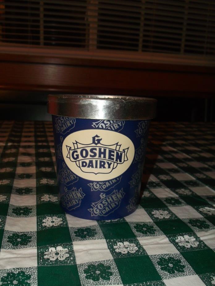 Vintage 1986 Goshen Dairy ONE PINT ICE CREAM CONTAINER New Philadelphia, Ohio