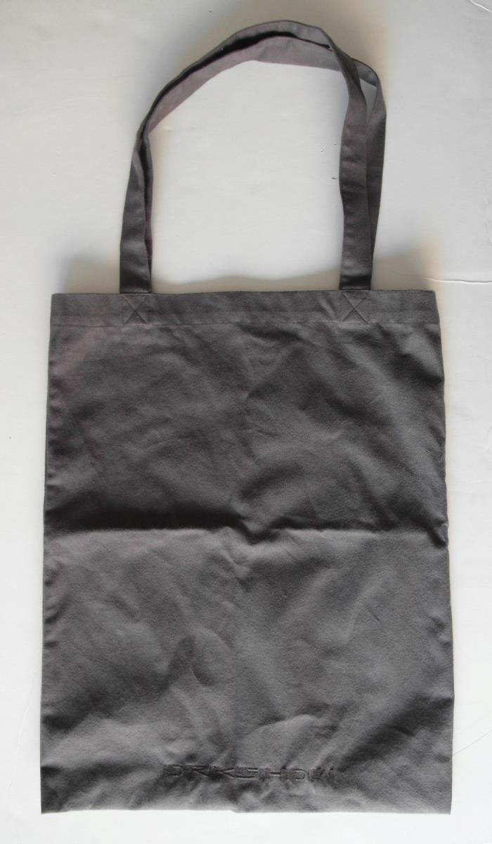 rick owens medium gray FLANNEL TOTE bag drkshdws