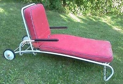 Mid Century Modern Outdoor Chaise Lounge