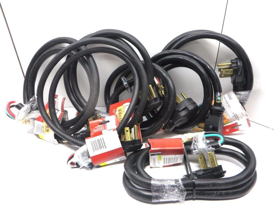 Lot of 7 Smart Choice 4 Wire Range Power Cord 6 feet 50 Amp 250v Free Shipping
