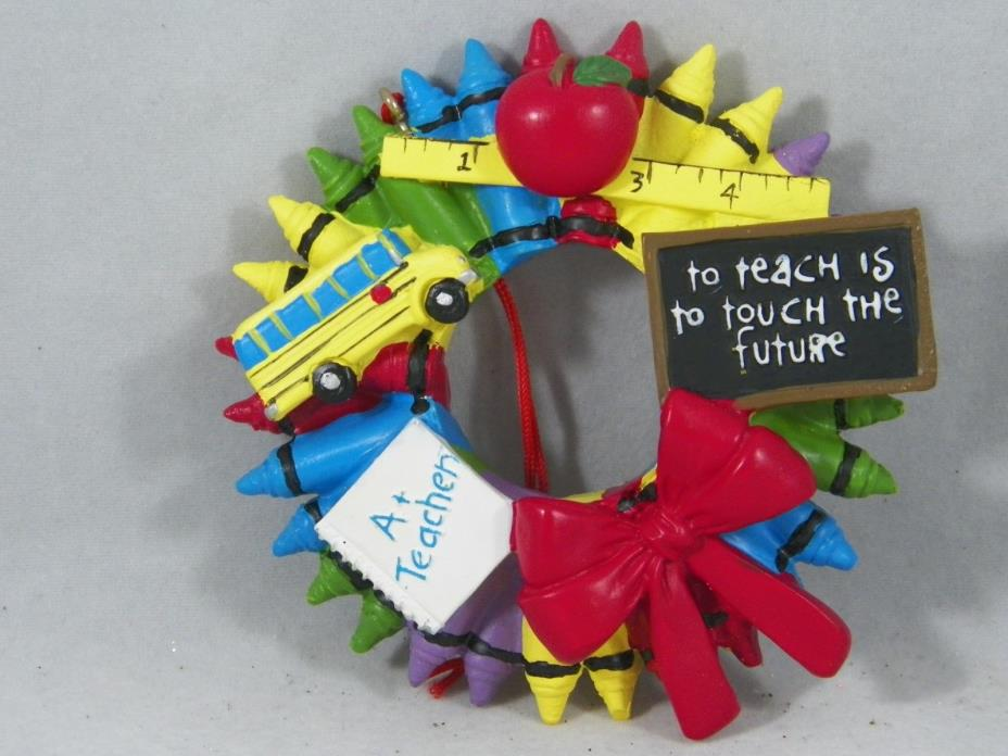 To Teach is To Touch The Future A+ Teacher Christmas Tree Ornament new holiday