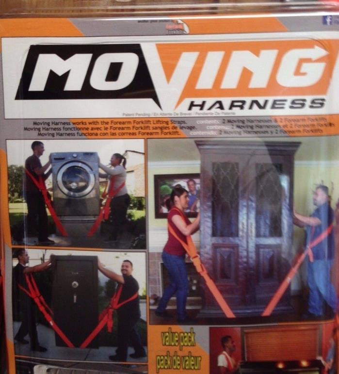 Moving Harness Set Including 2 moving harness and 2 forearm forklift Lifting Aid