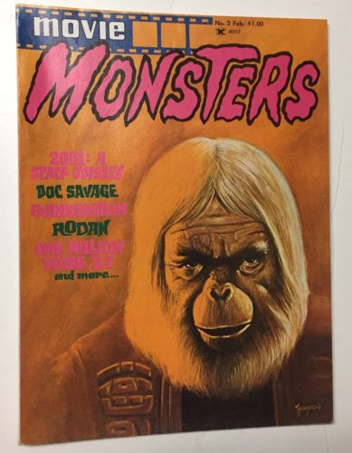 Movie Monsters #2 Feb. 1975 - VF/NM Clean Glossy Great Copy