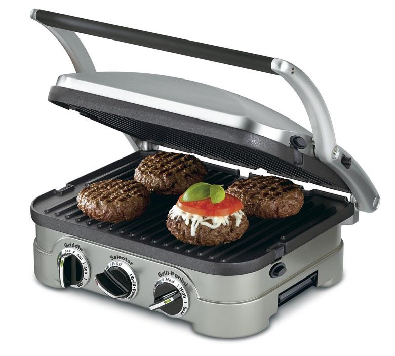 CUISINART Griddler GR-4 with 2 extra plates.