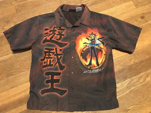 Boys Yu-Gi-Oh Button Up Shirt Size Medium 8-10