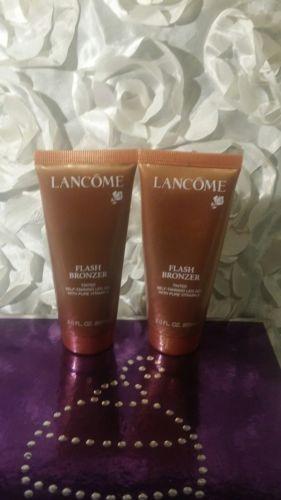 2 lancome flash bronzer tinted self-tanning leg gel with pure vitamin E 2oz
