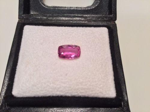 New, Unmounted 2.75 Natural PINK SAPPHIRE Rectangular Cushion Cut Gemstone $6500