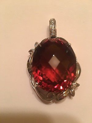 115ct Amber Topaz Pendent
