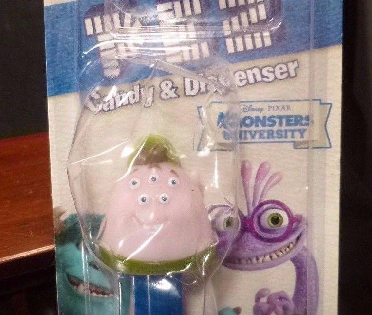 NEW Disney Pixar NEW Monsters University SQUISHY PEZ DISPENSER Mint in PACKAGE