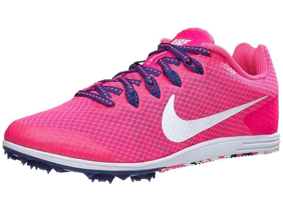 NEW Nike Zoom Rival D 9 Track Spikes Shoes 806560-615 Purple/Pink/White Womens 5