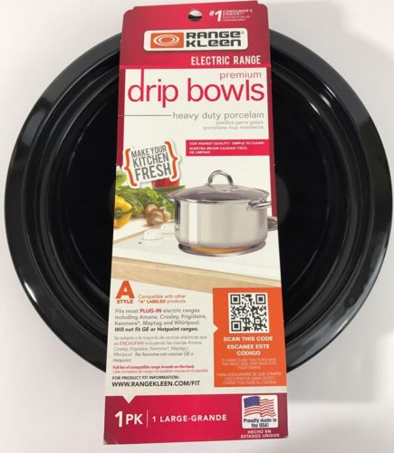 Range Kleen Electric Range Premium Drip Bowls Heavy Duty Porcelain Made In USA