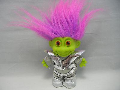 """Russ 4"""" GREEN MARTIAN ALIEN Troll Doll ….NICE….LOOK!!"""