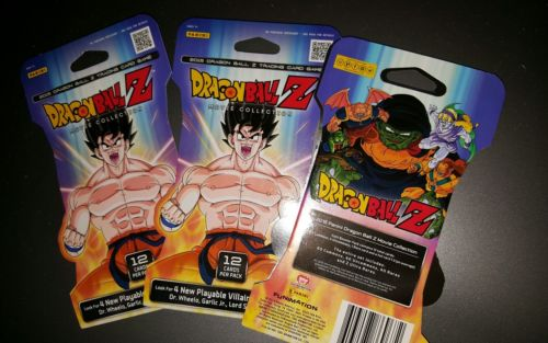 2015 Panini DBZ Dragonball Z TCG Card Game  MOVIE COLLECTION QTY 3