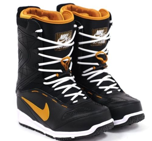 Nike Zoom Kaiju Snowboard Boots New Size 9 376276-072 All Black Gold Rare