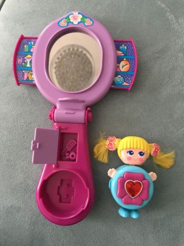 Vintage 1984 Galoob Sweet Secrets MIRROR-VANITY Playset w/ SHINIE Charm Figure