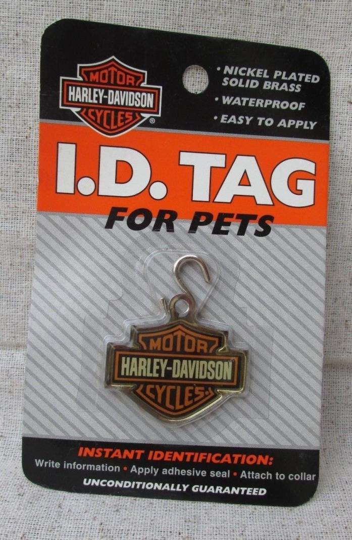 HARLEY DAVIDSON Charm ID Tag For Pets New Old Stock NIP