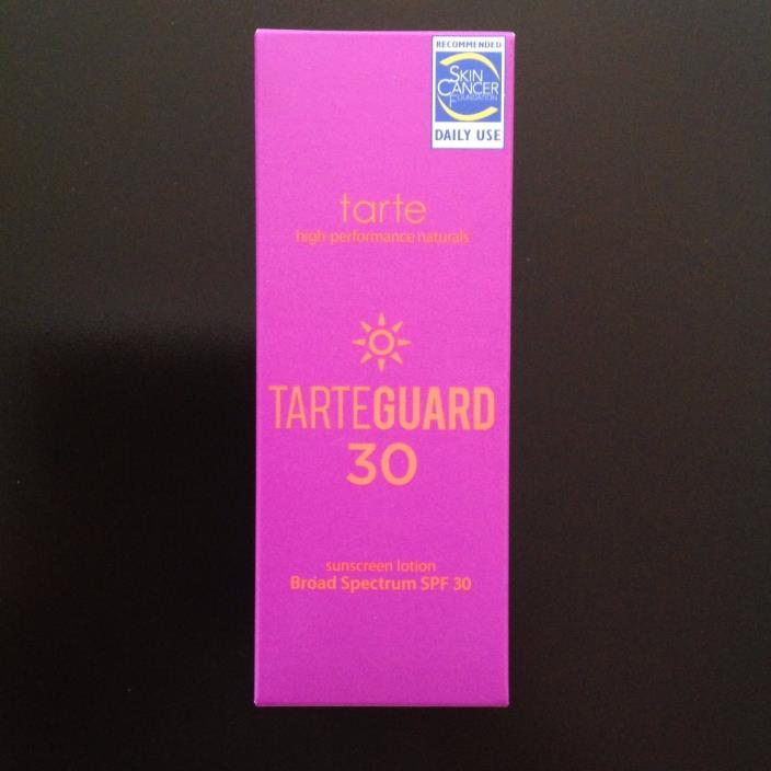 tarte tarteguard 30 Sunscreen Lotion Broad Spectrum SPF 30 Full-Size 1.7 oz NIB