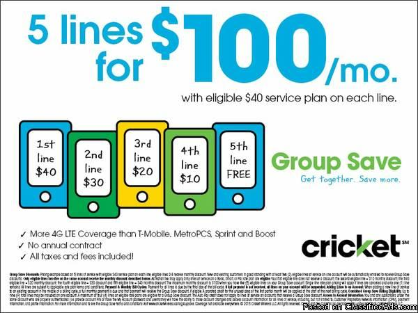 Come brighten your gloomy day with Cricket Wireless!