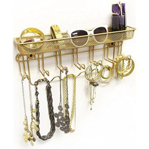Jewelry Mail Organizer Holder Key Rack Wall Mount Storage Shelf Bedroom