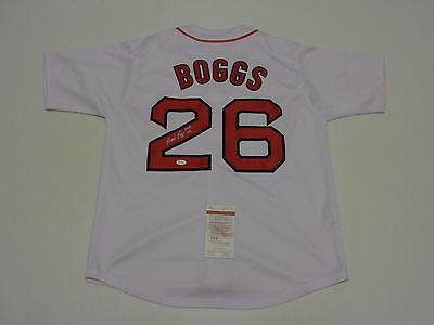 WADE BOGGS  AUTOGRAPHED BOSTON RED SOX  JERSEY