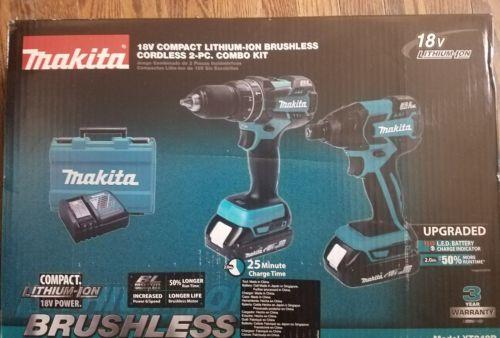 Makita Combo Kit XT248R 18V BL Brushless Cordless 2 Pc Impact &  Drill Set